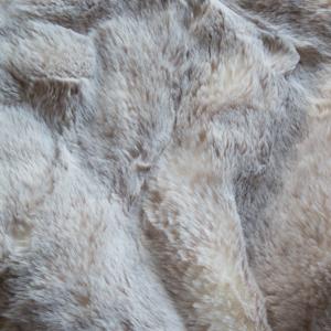 Faux Furs Herringbone Beige Frost Sochi Sable