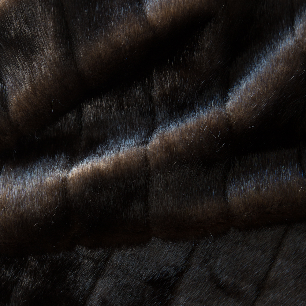 Faux Furs Brown Pelted Mink