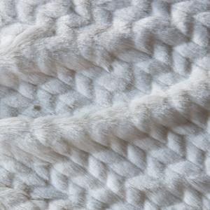 Faux Furs Cream Herringbone
