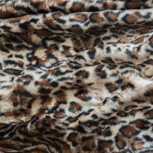 Faux Furs Beige Dark Faux Leopard